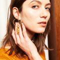 Boucles d'oreilles IRMA plaquées or
