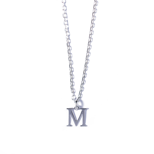 COllier Initiale argent