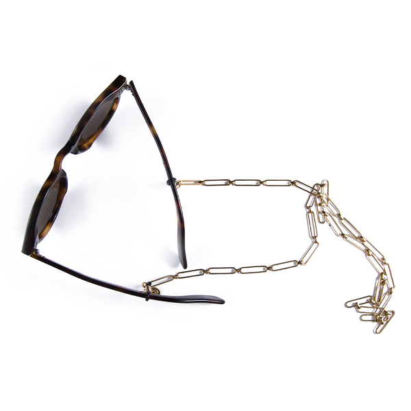 Attache lunettes VÉRONIQUE simple plaqué or