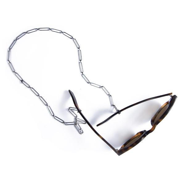 Attache lunettes VÉRONIQUE simple plaqué argent
